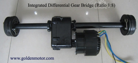 Differential gear bridge